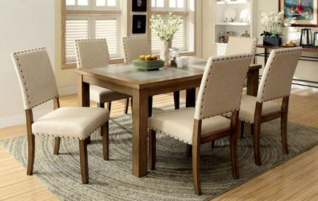 Furniture of America Melston I CM3531T6SC Dining Room Set Multi Colored, main image