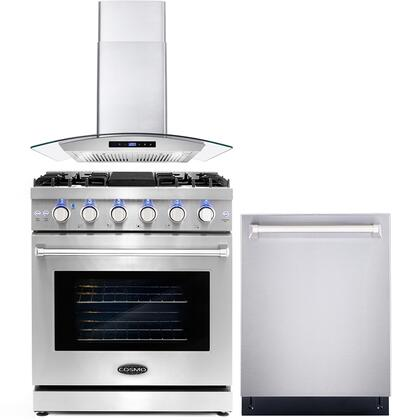 Cosmo  COS3PKG022 Kitchen Appliance Package Stainless Steel, COS 3PKG 022