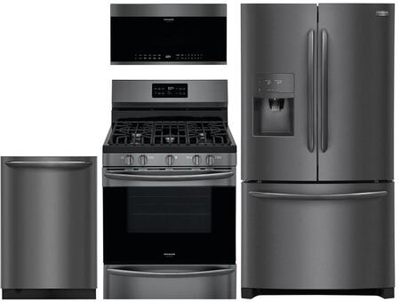 Frigidaire 988299 Kitchen Appliance Package & Bundle Black Stainless Steel, Main image