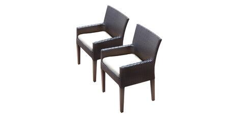 TK Classics BARBADOSTKC097BDCCWHITE Patio Chair, BARBADOS TKC097b DC C WHITE