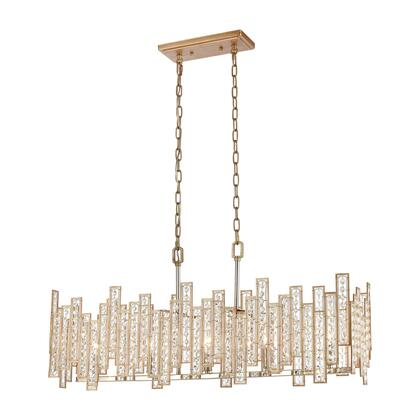 12136/5 Equilibrium 5-Light Island Light in Matte Gold with Clear