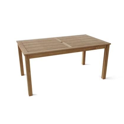 TB-065DT 65″ Rectangular Table with Teak Wood