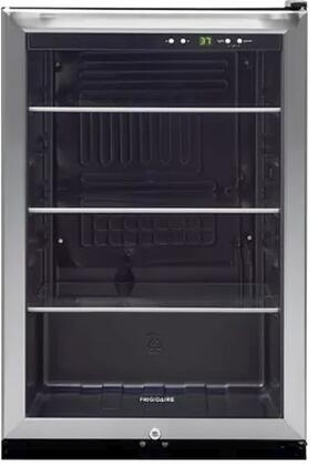 """FFBC4622QS 22"""" Freestanding Beverage Center with 138 Can Capacity 4.6 cu. ft. Capacity 3 Adjustable Glass Shelves and Lock in Stainless"""