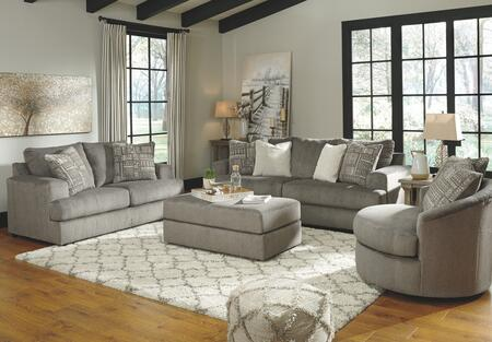 Signature Design by Ashley Soletren 95103384SET Living Room Set Gray, Living Room Set