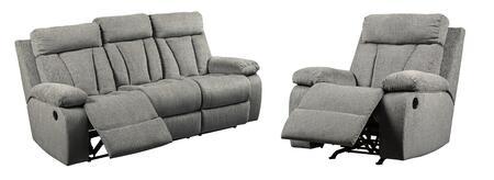 Signature Design by Ashley Mitchiner 762048925 Living Room Set Gray, Main Image