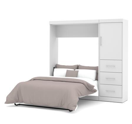 Bestar Furniture Nebula 2589217 Bed White, Image 1