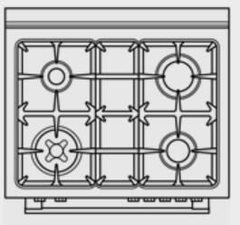 Bertazzoni Master A304GGVXE Freestanding Gas Range Stainless Steel, 1