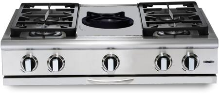 Capital Precision GRT364WL Gas Cooktop Stainless Steel, Main Image