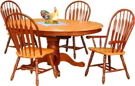 Sunset Trading Sunset Oak Selections DLUTBX48664130ANLO5PC Dining Room Set Multi Colored, Main Image