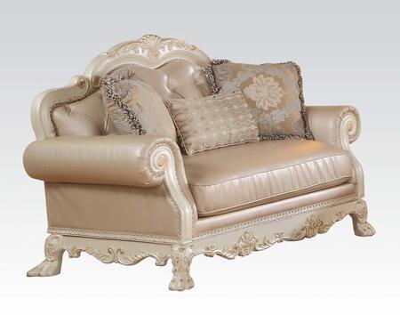 Acme Furniture Dresden 53261 Loveseat Gold, 1