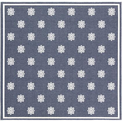 """Alfresco ALF-9675 8'10"""" Square Cottage Rugs in Charcoal"""