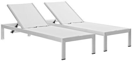 Modway Shore EEI2472SLVWHISET Lounge Chair White, Main Image
