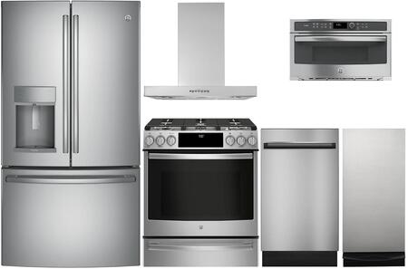 ge profile 6 piece kitchen appliance package with