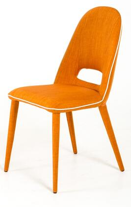 VIG Furniture Modrest Eugene VGEUMC8161CH Dining Room Chair Orange, 1