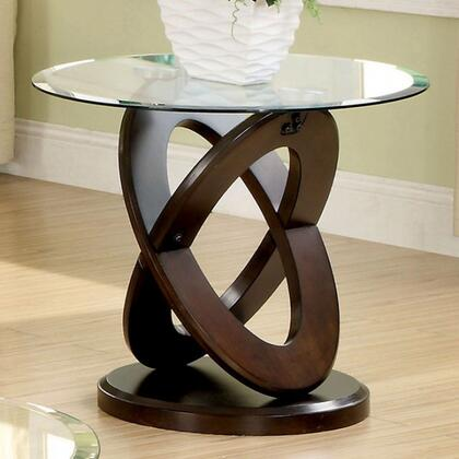 Furniture of America Atwood II CM4401E End Table Brown, Main Image