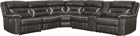 Signature Design by Ashley Kincord 131044PCSEC Sectional Sofa Brown, 1