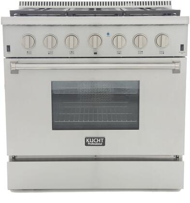 Kucht Professional KRG3618ULPS Freestanding Gas Range Stainless Steel, KRG3618ULPS Front View