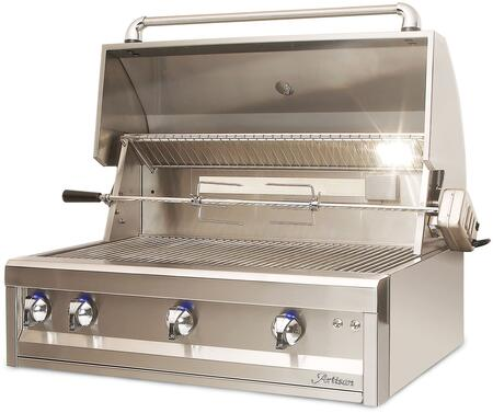 Artisan Grills ART-36 75000 BTU Built-In Natural Gas Grill//BBQ with Rotisserie and Lights 36-Inch