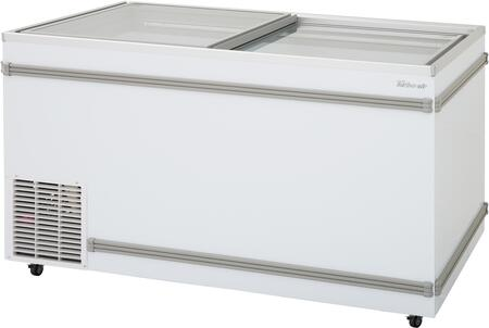 Turbo Air TFS20FN Commercial Glass Top Freezer White, TFS20FN Angled View