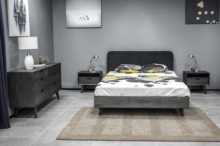 Armen Living Mohave SETMVBDKG4A Bedroom Set Gray, SETMVBDKG4A