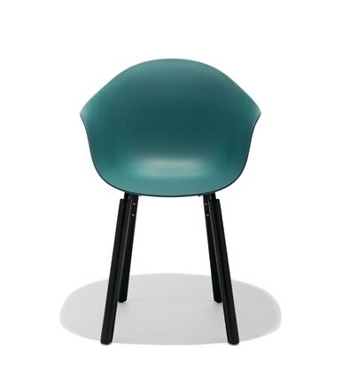 TA Collection TO-1733OB-1502B Upholstered Armchair/Er Base Black Powder Coated/Ocean Blue
