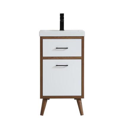 Elegant Decor Boise VF41018WH Sink Vanity White, vf41018wh