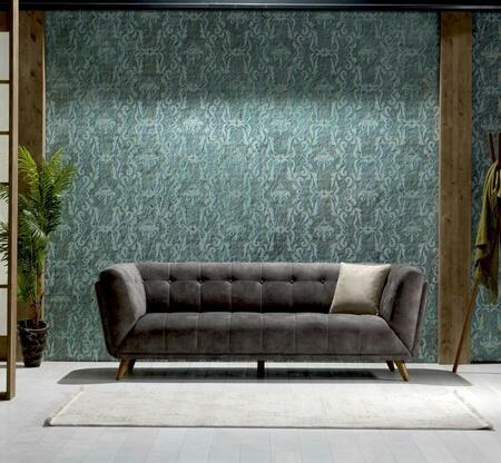 Casa Mare Leo Series LEO3SG Stationary Sofa Gray, 1