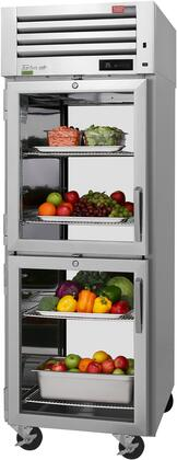 PRO-26-2R-G-PT-N-L 29″ Pro Series Half Glass Door Pass-Thru Refrigerator with 25 cu. ft. Capacity  Self-Cleaning Condenser  Digital Temperature