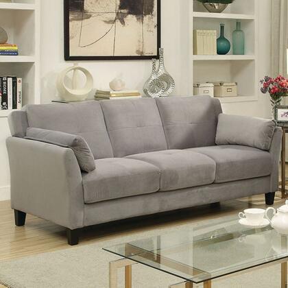 Furniture of America Ysabel CM6716GYSFPK Stationary Sofa Grey, Main Image