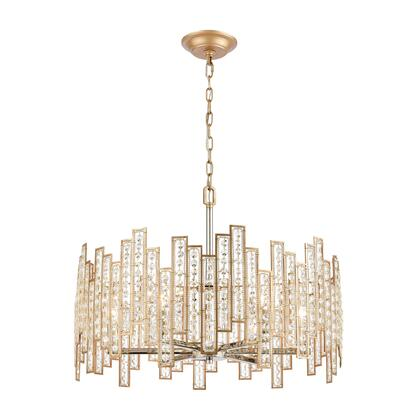 12135/6 Equilibrium 6-Light Pendant in Matte Gold with Clear