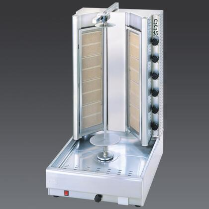 DG16V N Turbo Gas Gyros and Shawarma Machine 16 Burners with Thermostatic