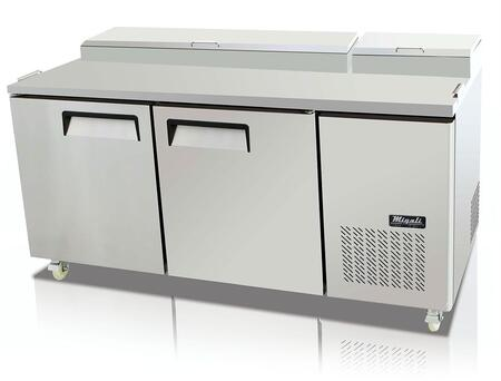 Migali Competitor CPP67HC Prep Refrigerator Stainless Steel, Main Image