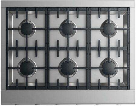 Fisher Paykel Professional CPV2366LN Gas Cooktop Stainless Steel, Top view