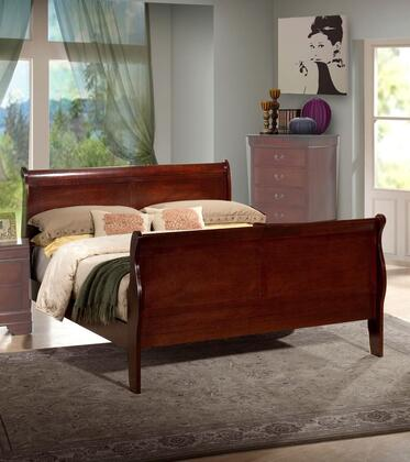 Myco Furniture Louis Philippe LP101Q Bed Brown, 1