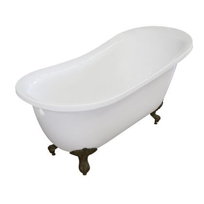 Valley Acrylic Affordable Luxury IMPERIAL155CFWHTBRZ Bath Tub White, Main Image