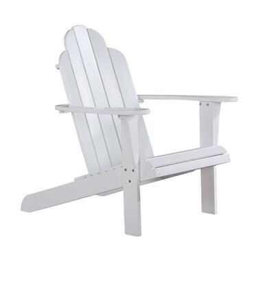 Linon 21150WHT01KDU Patio Chair, 21150WHT 01 KD U%20White%20Adirondack%20Chair%20B