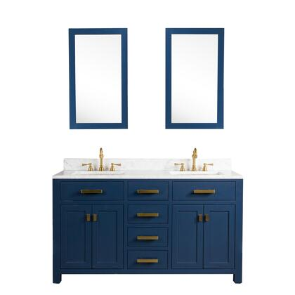 Water Creation Madison VMI060CWMB35 Sink Vanity Blue, MADISON60MB lifestyle