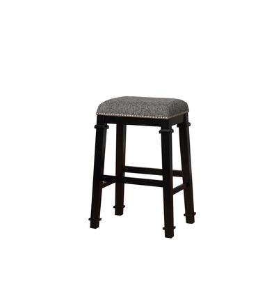 Linon Kennedy BS094BLK01U Bar Stool, BS094BLK01U Kyley Backless Bar Stool Black