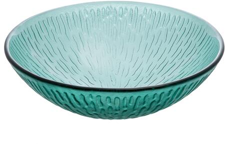 EB_GS56 17″ Vessel Sink with 1 Year Limited Warranty  Round Shape and Tempered Glass Material in Green Drops