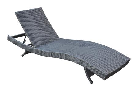 LCCALOBL Armen Living Cabana Outdoor Adjustable Wicker Chaise Lounge