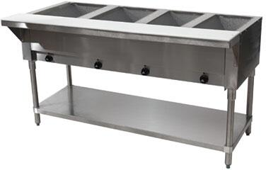Advance Tabco  SW4E240X Commercial Electric Steam Table Stainless Steel, 4 Well Hot Food Table