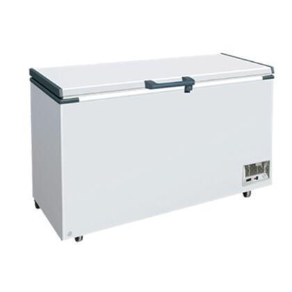 MXH14.2S Maxx Cold X-series Chest Freezer with 13.4 cu. ft. Solid Hinged Recessed Handle Aluminum Interior White Exterior Light Temperature