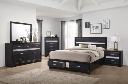 Coaster Miranda Collection 206361KW-S5 5-Piece Bedroom Set with