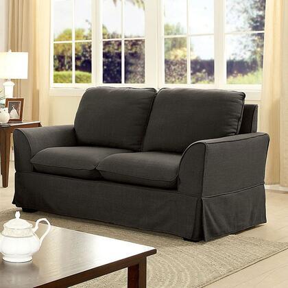 Furniture of America Maxine I CM6378GYLV Loveseat Gray, Main Image