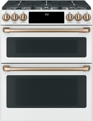 Cafe Matte Collection C2S950P4MW2 Slide-In Dual Fuel Range White, Main Image