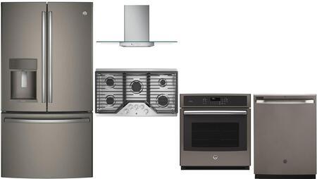 GE Profile 980481 5 piece Slate Kitchen Appliances Package