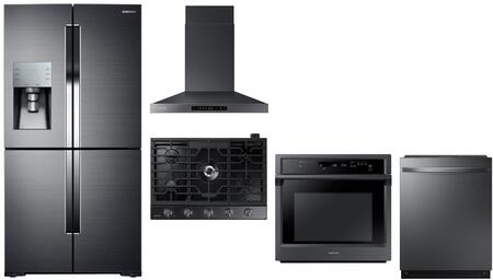 Samsung 1125235 Kitchen Appliance Package & Bundle Black Stainless Steel, main image