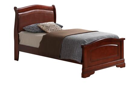 Glory Furniture Louis Phillipe G3100CTB2 Bed Brown, Bed