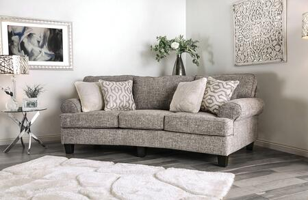 Furniture of America Porth SM8012S Stationary Sofa, 1