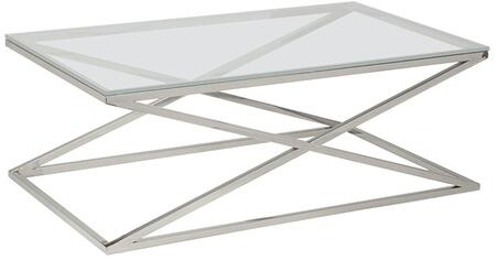 Allan Copley Designs Excel 2080401CL Coffee and Cocktail Table Stainless Steel, Cocktail Table